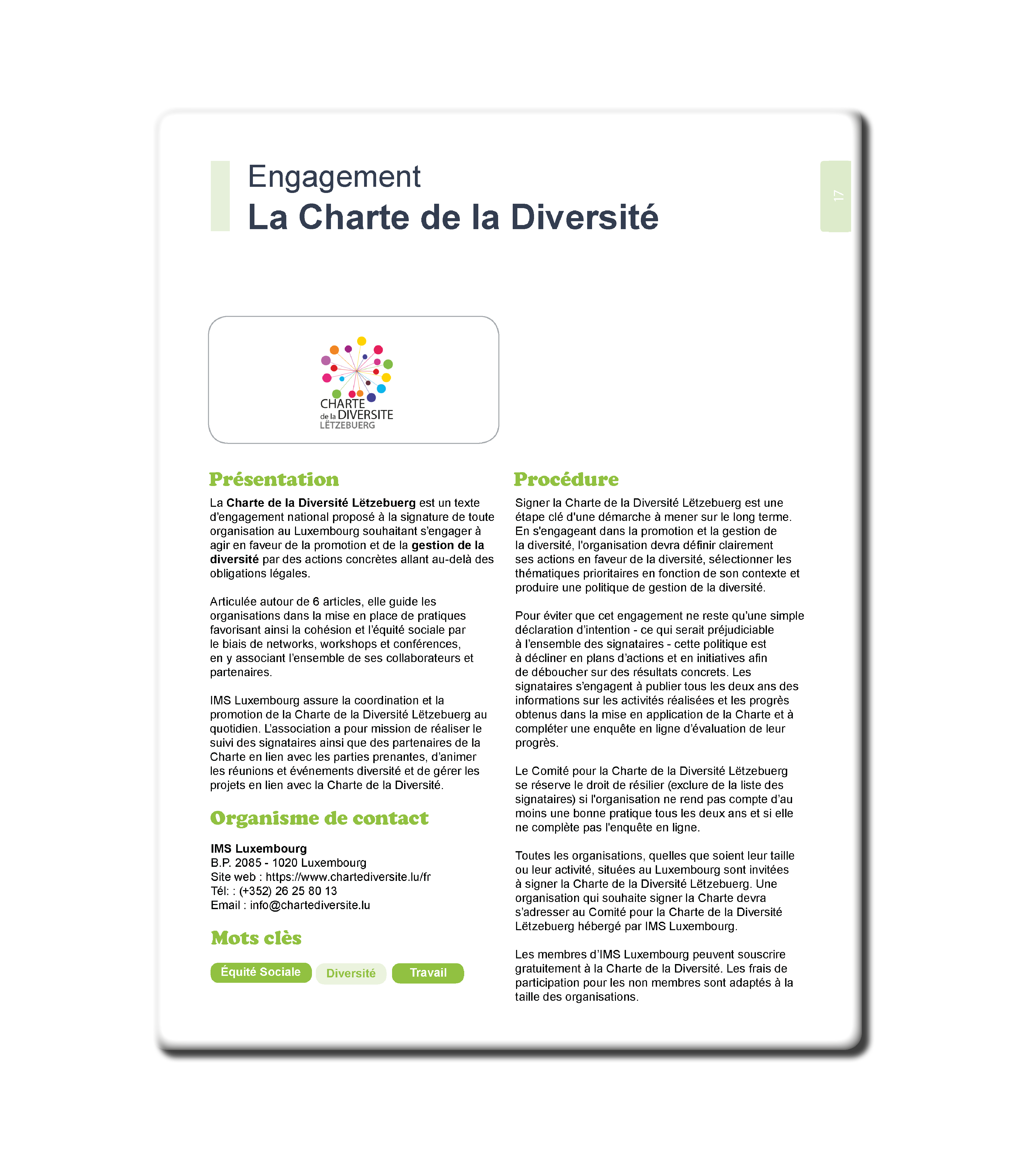 La charte de la diversite - Resources